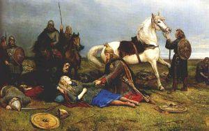 Hervors død by Peter Nicolai Arbo,
