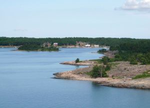 View over southern part of Sottunga, in the Aland Islands.