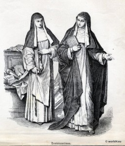 two nuns carrying books