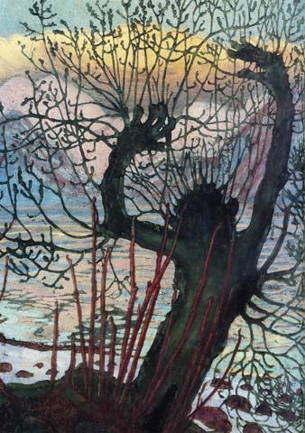 Vårnatt og seljekall, Nikolai Astrup, 1919.