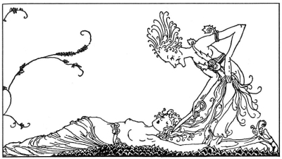 Sif and Loki. The Children of Odin, The Book of Northern Myths, by Wolly Pogany, 1917.