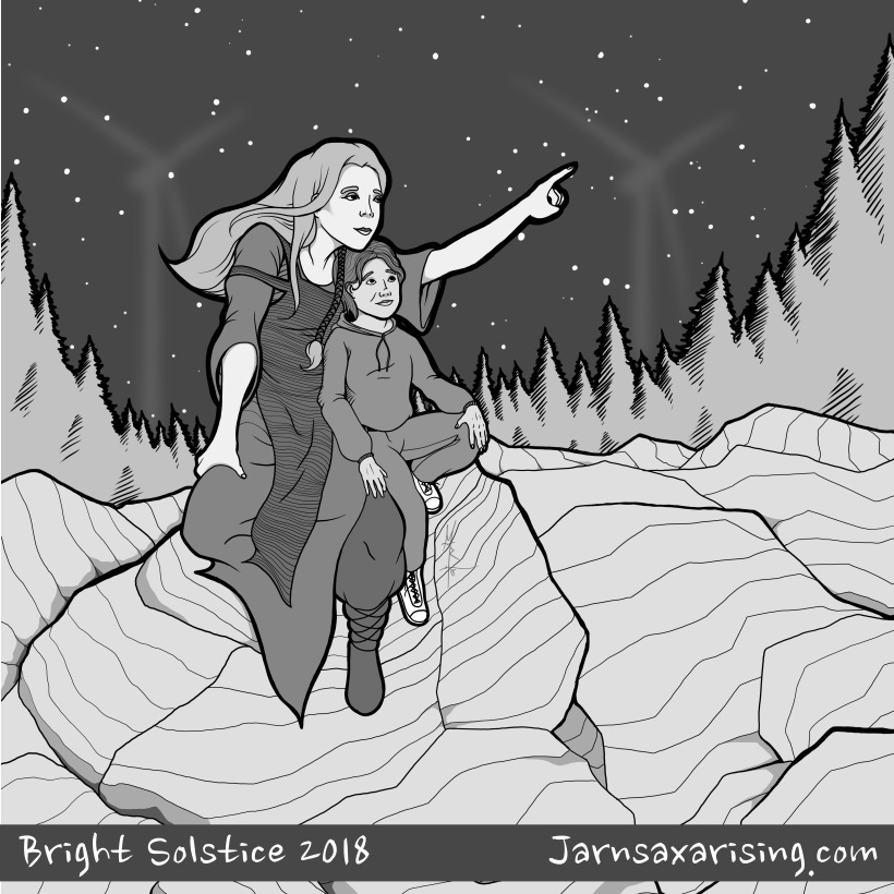 A Jotun giantess shows a child the constellations, on the darkest night of the year.